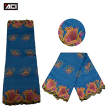 ACI-Hot Selling Women Dress African Fabric Guinea Brocade Damask 5 Yards/Piece African Bazin Riche Lace Getzner Fabrics For Lady