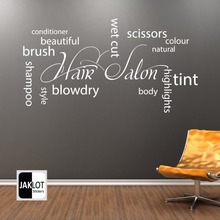 New Arrival Hair Shop Vinyl Wall Decal Spa Barber Shop Hair Shop Salon Lettering Quote Wall Sticker Window Glass Decoration