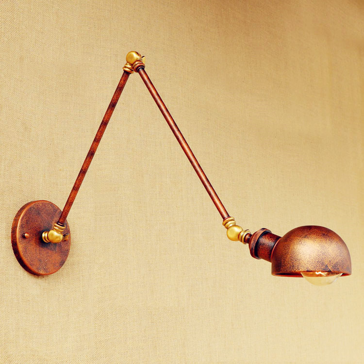 Arandela Loft Vintage Wall Lights Fixtures Adjustable Swing Long Arm Wall Light LED Edison Industrial Wall Sconce Aplikes loft nordic vintage wall lamp classic black art sconce decorative light adjustable arandela led swing 2 arm wall lights reading