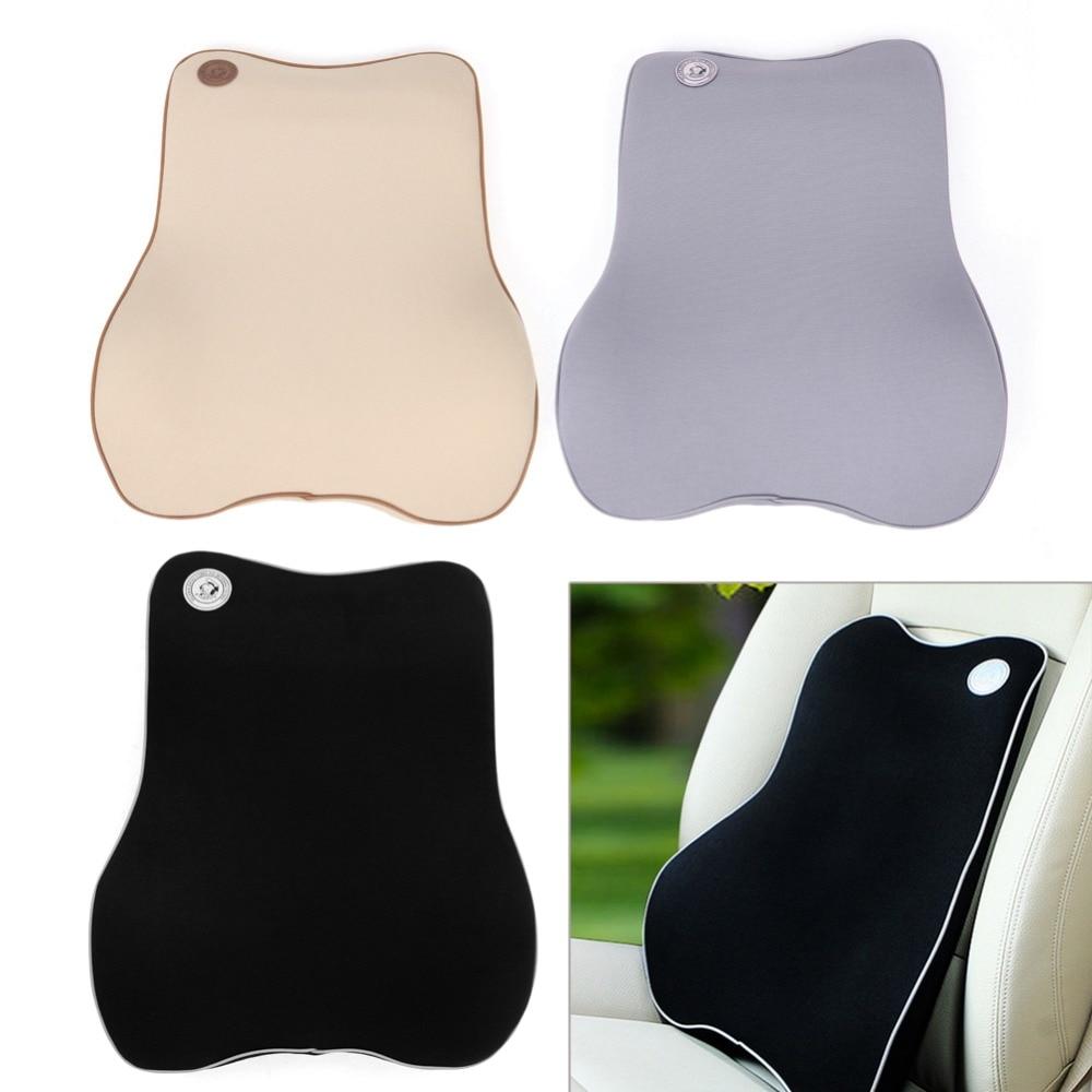 Back Cushion Pillow Memory Foam Car Seat Office Chair Lumbar Support