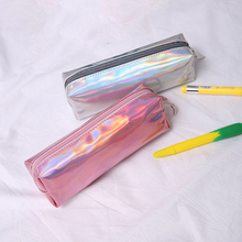Novelty Laser Pen Bag Kawaii Pencil Large Capacity Pencilcase Male And Female Portable School Case Supplies