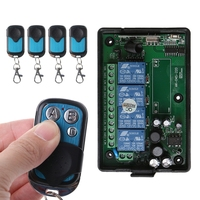 OOTDTY 315 433MHz AC80 260V 4CH RF Wireless Remote Control Switch Learning Code Receiver Module 4