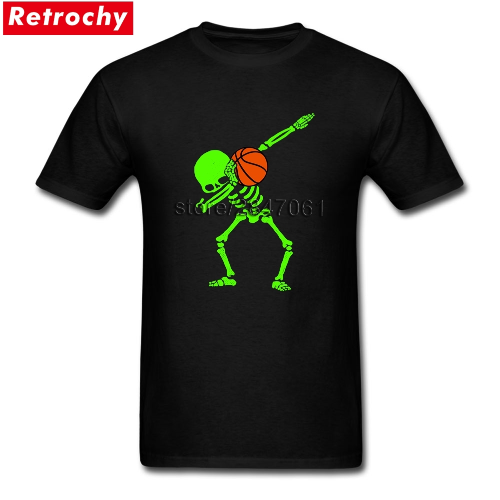 2017 Brand 80S T-Shirts Dabbing Skeleton Basketball Dab Men Stylish Fit Short Sleeves Pl ...
