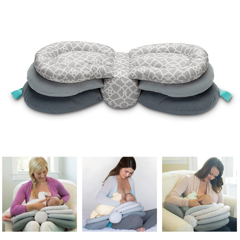 2018 Hot Baby Pillows Multifunction Nursing Breastfeeding Layered Washable Cover Adjustable Model Cushion Infant Feeding Pillow