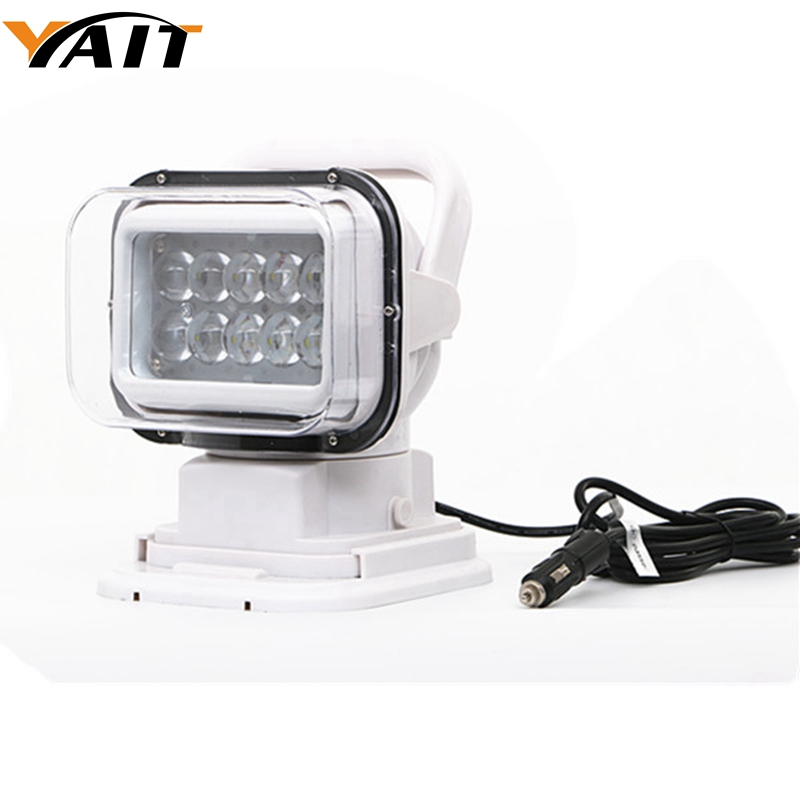 Yait IP67 10-30V Remote control LED Searchlight 7inch 50W Spot LED Work Light TRUCK SUV BOAT MARINE Remote control light