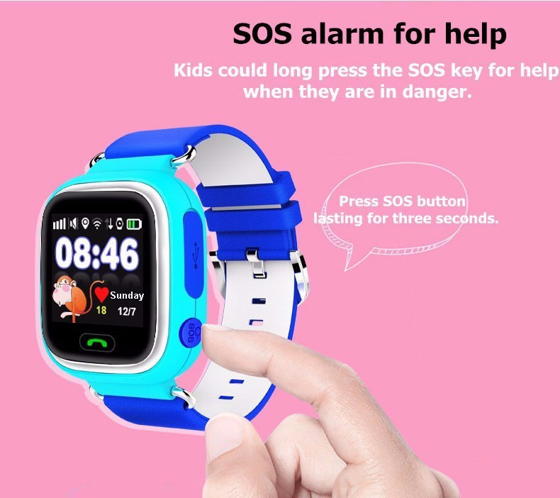 Child Smart Watch Q90 GPS LBS Positioning Children Smart Watch 1.22 Inch Touch Screen SOS Clock Tracker for Kid Safe Monitor#C1 16