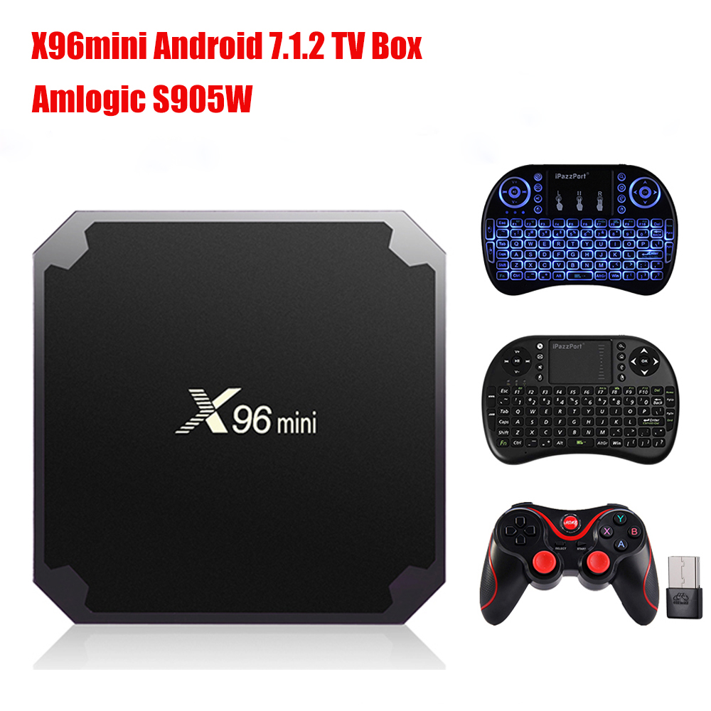 X96mini Smart TV Box Amlogic S905W Android 7.1.2 2GB RAM+16GB ROM/1GB+8GB Quad Core WIFI HDMI 4K*2K HD Set Top BOX Media Player bben mini smart tv box intel quad core z8350 cpu wifi bluetooth4 0 lan port ddr3 2gb 4gb ram 32gb 64gb rom media player win10