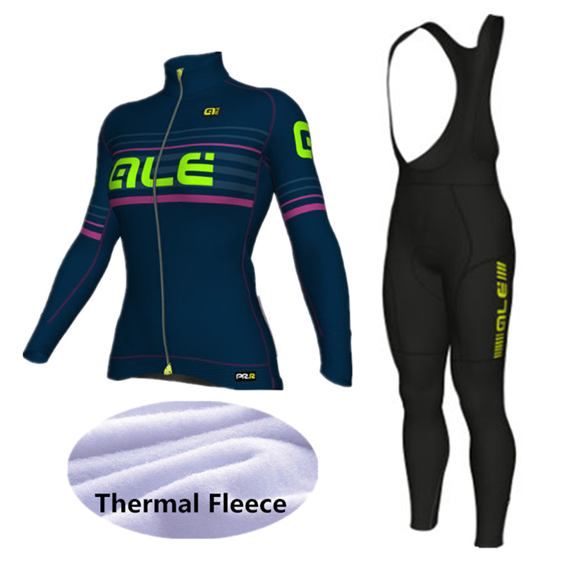 2018 Women Thermal Fleece  Cycling Jersey Winter Bike Wear Maillot Ropa Ciclismo Invierno Hombre MTB Bicycle Clothing -KF774J  gore bike wear women s xenon lady jersey
