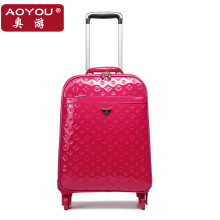 Fashion luggage trolley luggage universal wheels female leather bags travel bag soft box luggage high quality