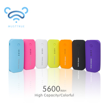 MUSTTRUE Power Bank 5600mAh USB External Mobile Backup&protable Universal charger Powerbank Battery for iPhone mobile Phone