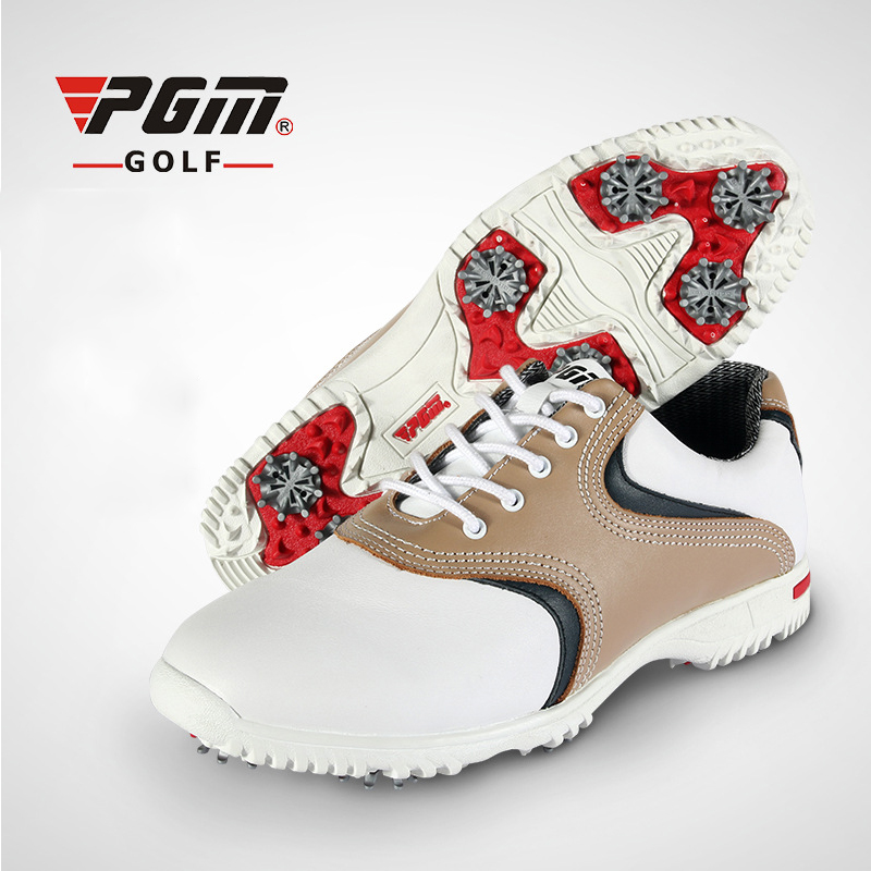 PGM Men Golf Shoes Real Leather High Quality Brand Sneakers Anti Skid Golf Shoes Man Professional Outdoor Indoor Sport Shoes pgm genuine golf shoes men s double patent golf shoes high performance anti collision exoskeleton anti skid soles