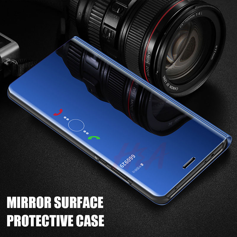 Image 2 - H&A Clear View Smart Mirror Phone Case For Xiaomi Redmi 5 Plus Note 5 5A 4X Flip Cases For Xiaomi 8 SE 6 6X Leather Back Cover-in Flip Cases from Cellphones & Telecommunications