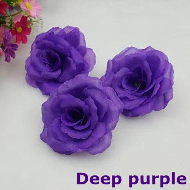 New10pcslot 8cm deep purple artificial rose silk flower heads diy new10pcslot 8cm deep purple artificial rose silk flower heads diy wedding home decoration festive mightylinksfo