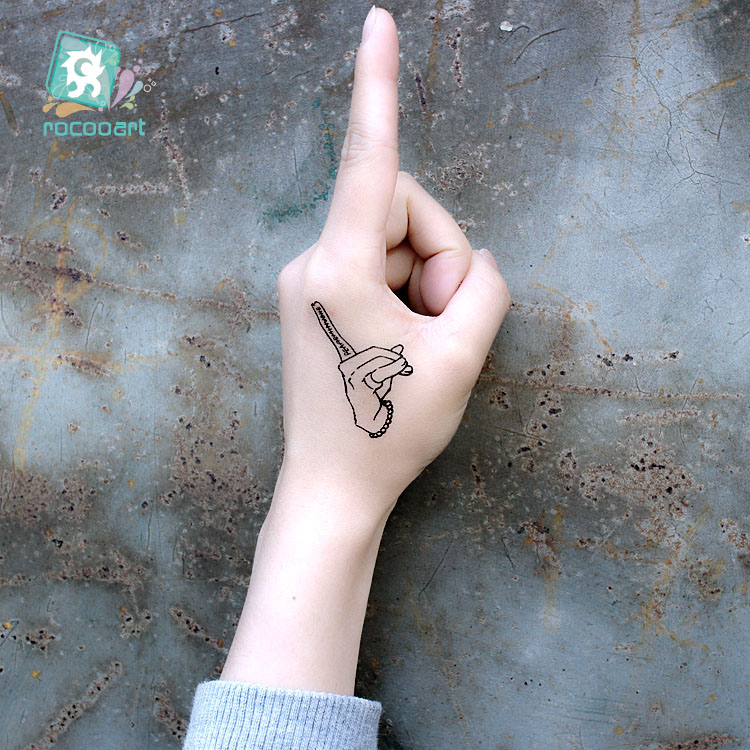 Us 047 40 Offmost Popular Old School Moon Sex Girls Tattoo Design For Boys Women Fake Black Body Temporary Tattoo Sticker On Hands Foot Arms In
