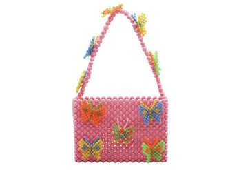2019 New Luxury Weaving Pearls Bag Beaded Shoulder Bag Flap Handbags Women Vintage Retro Ladies Top-handle Bags Purse