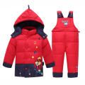 Kids clothes Baby Boys Girls Winter Jacket Down Warm Coats Children Child Snowsuit Sound Outerwear Jacket + pants set of Clothes