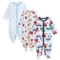 2016 Outono Inverno Boutique 3 Pcs Moda Cotton Criança Jumpsuit bodysuit Bebê menino roupas Infantis