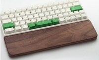 Metoo hohe qualität Holz Mechanische Tastatur Handgelenk Rest Pad Unterstützung Hand Pad Für Mechanische Tastatur Nussbaum für 60/87/104 schlüssel
