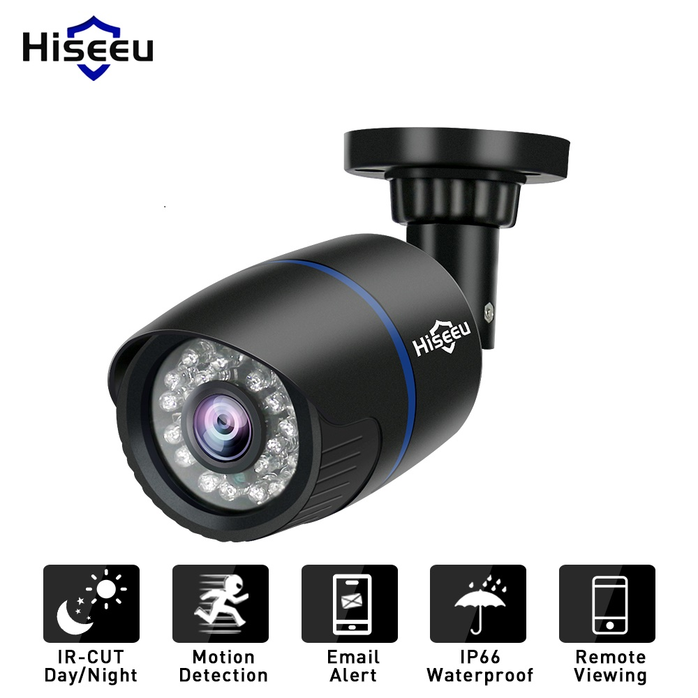Hiseeu IP Camera 1080P 720P 3.6mm Email Alert XMEye ONVIF  Motion Detection 48V POE Surveillance CCTV Outdoor Network Cameras