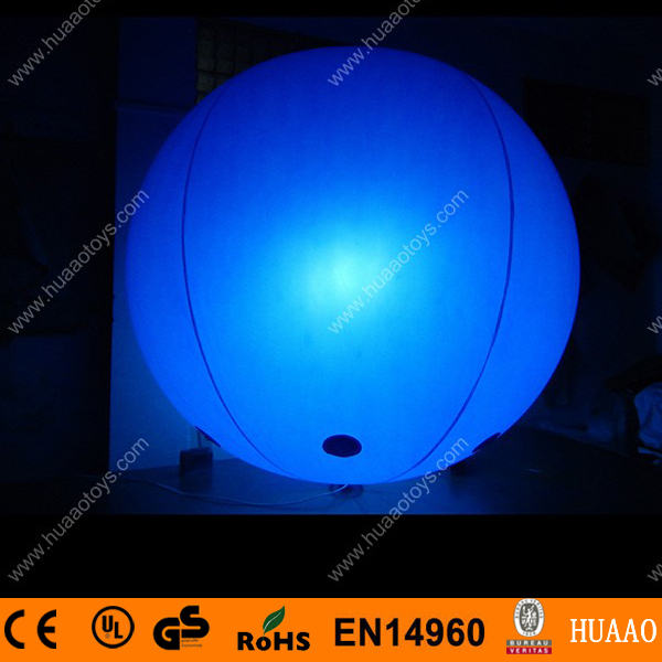 Купить с кэшбэком Free shipping LED light 2m/6.5ft giant inflatable balloon for events