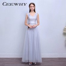 578c40fa4 Ceewhy 6 estilo Vestidos de fiesta vestidos madrinha de casamento Bordado  partido formal elegante vestido de noche vestido de fi.