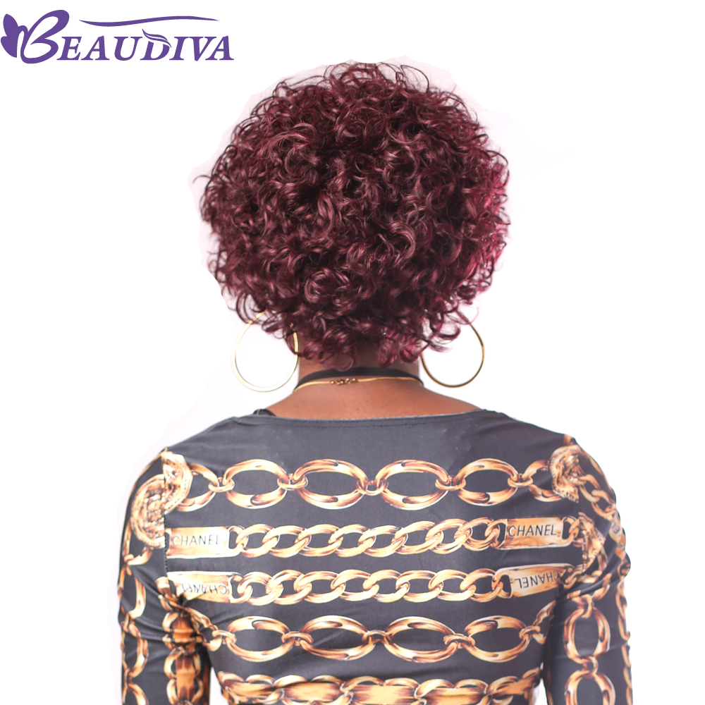 Aliexpress Buy Beaudiva Pre Colored Human Hair Wigs 950 Color