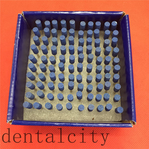 Image 4 - 100 Pcs Cilindro Ghiaia Ceramica di Spessore Montato Point Frese Lucidatore 2.35 Millimetri Dental Strumentazione da Laboratorio