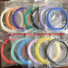 many colours*10  Low temperature PCL Filament for 3D Pen 1.75mm No PLA/ABS Material For 3D Drawing Pen Colorful PCL 3D Printer