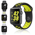 Esportes de silício banda strap para nike + apple watch preto volt pulseira para apple watch band série 1 & 2 38mm 42mm pulseira de borracha