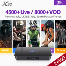 X92 Arabic France S912 Octa-core Android Tv Box Receiver 4k Full HD IPTV SUBTV Subscription Turkey Belgium Portugal