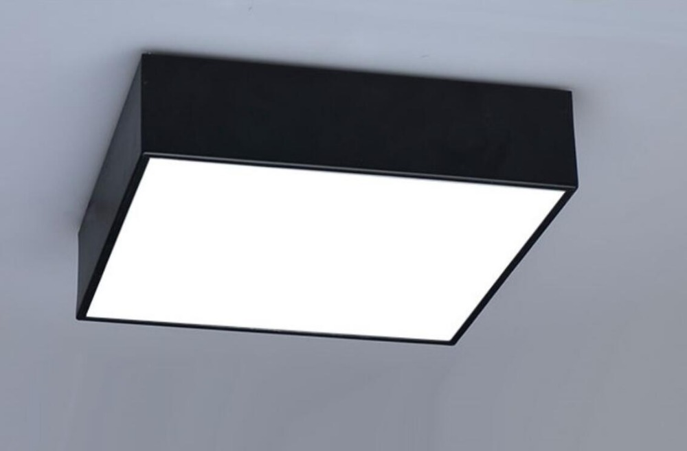 Modern office LED ceiling lighting lamps square bedroom living room lights combination black/white аптечки апполо мамы и малыша