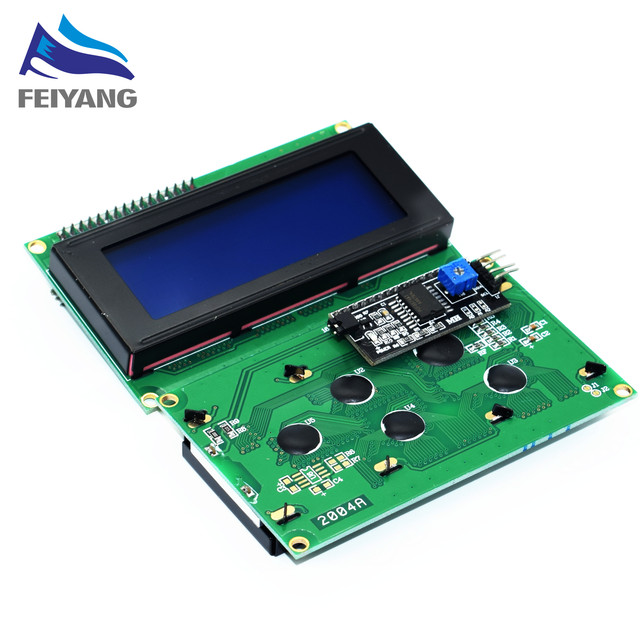 1PCS LCD2004+I2C 2004 20x4 2004A blue screen HD44780 Character LCD /w IIC/I2C Serial Interface Adapter Module