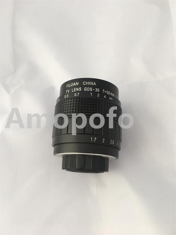 цена на Amopofo, C-Nik+Black 35mm f1.7 C Mount CCTV Lens for Nikon D5300, D610, D7100, D5200, D600, D3200+2 Macro Ring