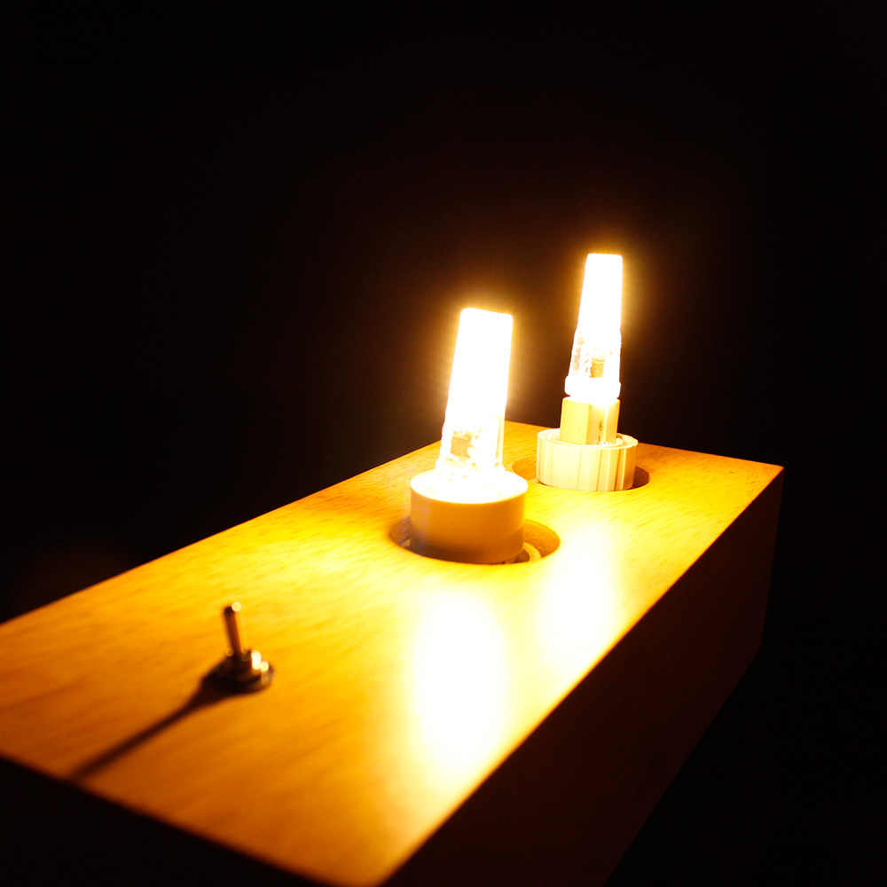 Mini lampe à LED G4 G9 E14 AC/DC 12V 220V 3W 6W 9W COB LED G4 G9 ampoule Dimmable 360 Angle de faisceau remplacer les lumières de lustre halogène