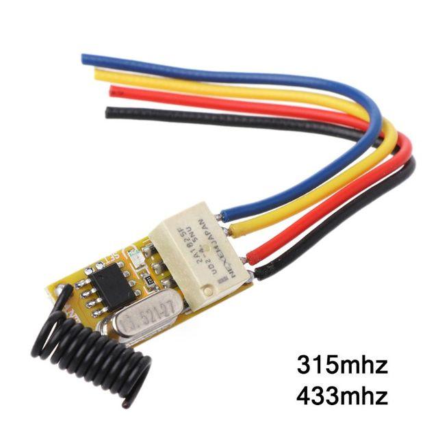 リモートスイッチ DC3.7V 4.2 V 5 V 6 V 7.4 V 8.4 V 9 V 12 V 出力 0 12V ドライ接点リレースイッチング値 NO COM NC 315 MHz 433 MHz