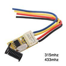 Relé interruptor remoto dc3.7v 4.2 v 5 v 6 v 7.4 v 8.4 v 9 v 12 v saída 0 v relé de contato seco valor de comutação nenhum com nc 315 mhz 433 mhz