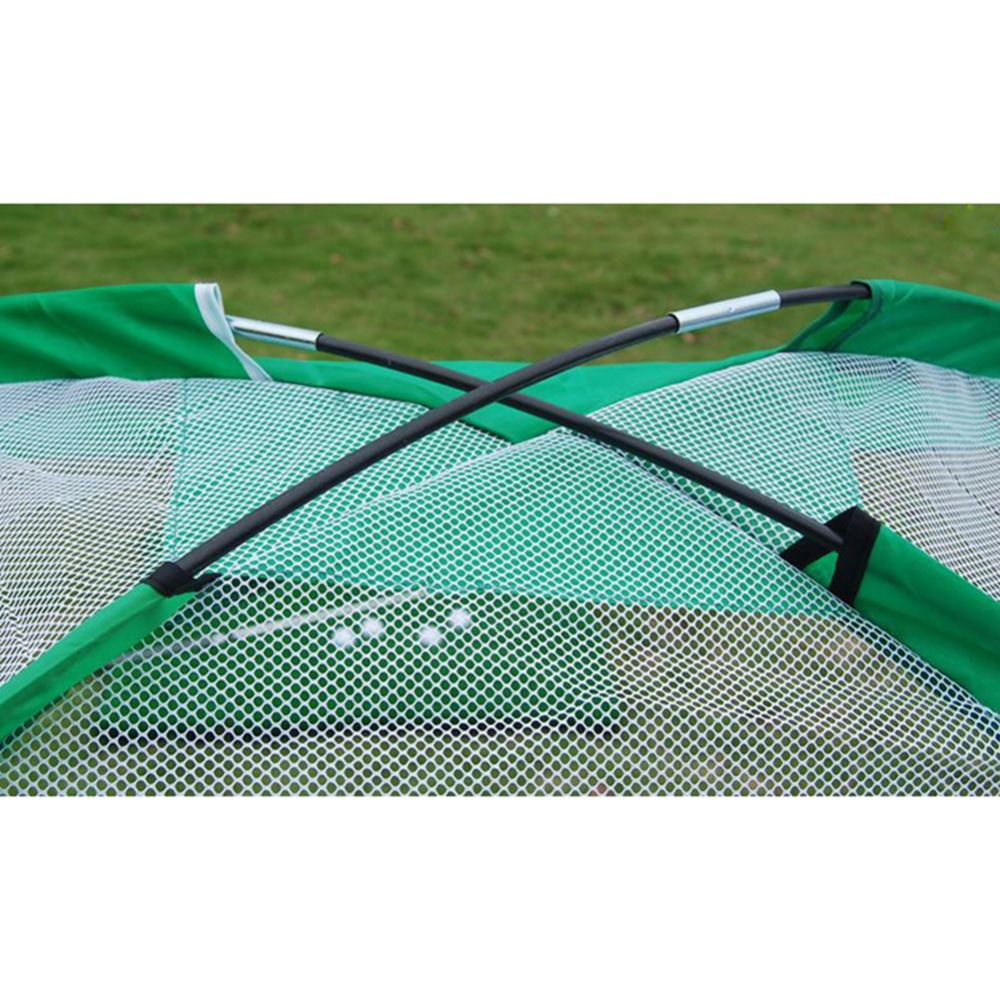 Image 3 - 2m Golf Cage Swing Trainer Pad Set Indoor Golf Ball Practice Net Golf Training New without the mat-in Golf Training Aids from Sports & Entertainment