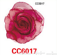 Mini Body Art Waterproof Temporary Tattoos For Women Red Rose Flower Design Flash Tattoo Sticker CC6017