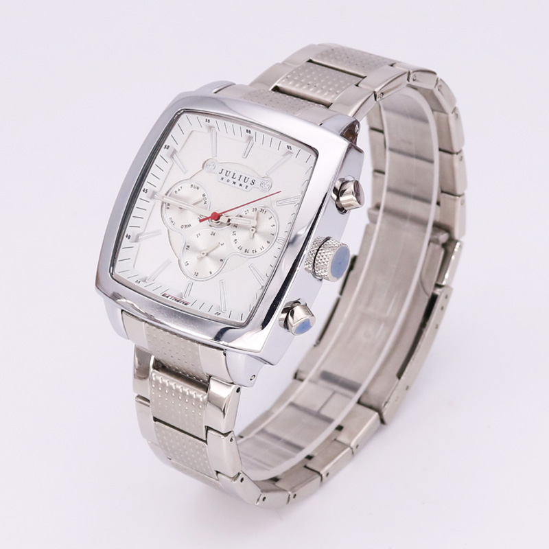 Real Multi-functions Big Men's Watch Japan Mov't Hours Business Top Homme Clock Stainless Steel Boy's Birthday Gift Julius Box джемпер quelle vilatte 1029583 page 7