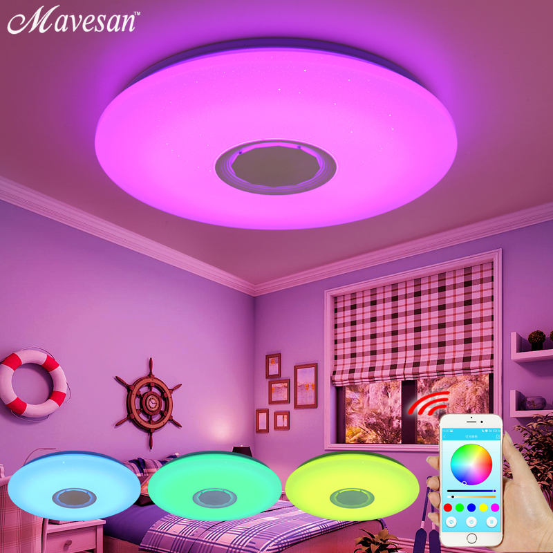 Moderno Luci di soffitto del LED RGB Blutooth lampada da soffitto Dimmerabile 25 w 36 w 52 w APP telecomando Musica leggera per la camera da letto camera dei bambini