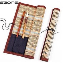 EZONE чехол для ручки для каллиграфии, держатель для кисти, Бамбуковая сумка для занавесок, упаковка для акварельных ручек для рисования маслом, товары для рукоделия