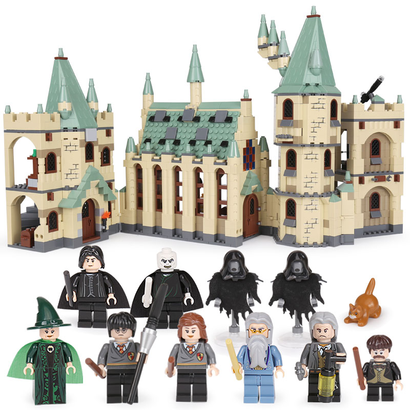 Lepin 16030 Movie Series Castle legoing 1340pcs Building Blocks Bricks Compatible 4842 Educational Toys Model As Gift lepin 16030 1340pcs movie series hogwarts city model building blocks bricks toys for children pirate caribbean gift