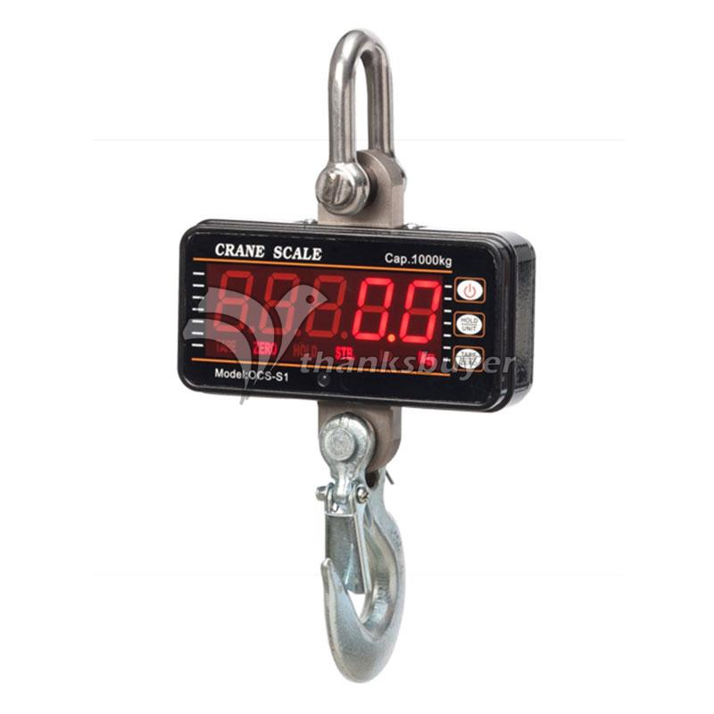 OCS-S1 100KG High Resolution Electronic Weighing Scale Digital Hanging Hook Crane (LED) Aluminum Case LED Display
