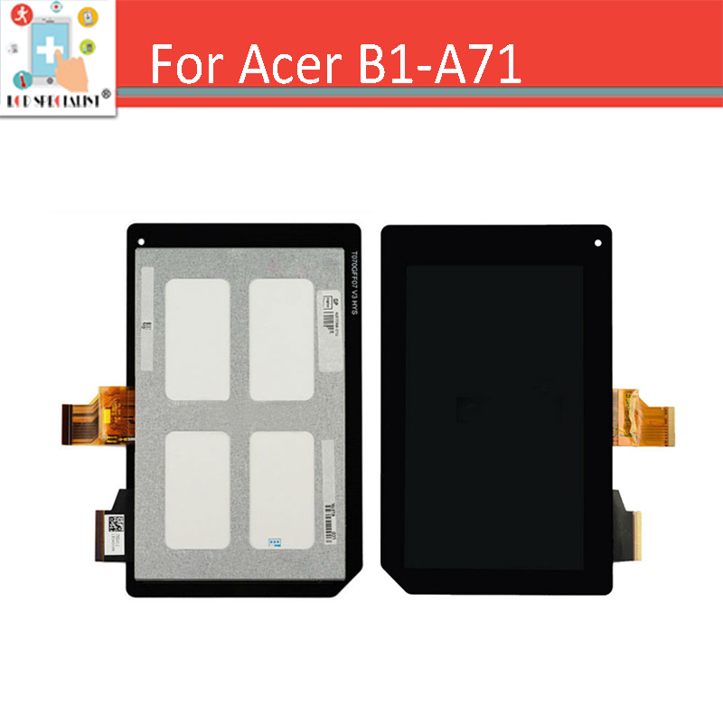 High Quality 7 inch Black for Acer Iconia Tab B1-A71 Touch Screen Digitizer with LCD Display Full Assembly Replacement Parts new high quality for acer iconia tab a210 a211 tablet pc 10 1 inch touch screen panel digitizer black free shipping