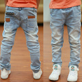 Boys jeans Spring 2016 new children's casual cotton trousers Korean tide big boy pants