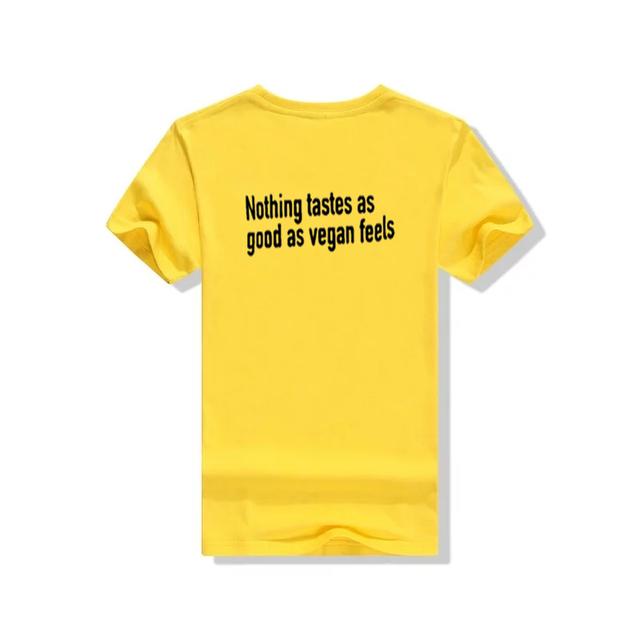 """Nothing Tastes as good as VEGAN FEELS"" women's shirt / girlie"