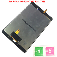 New LCD Display Touch Screen Digitizer Sensors Assembly Panel Replacement For Samsung Galaxy Tab A SM T350 T350 T351 T355