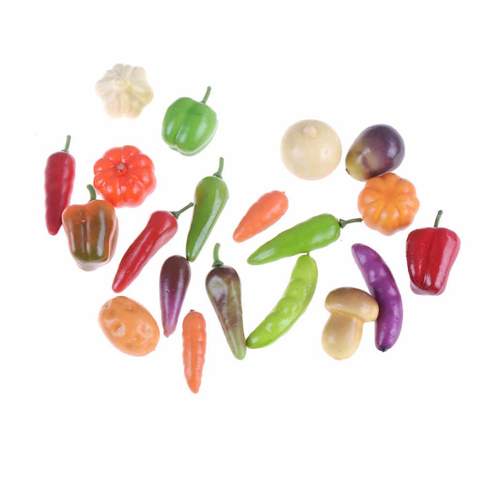 10 sztuk dzieci warzywa zabawki Pretand zagraj w zabawkowe owoce jedzenie gry dla dziewczynek i chłopców zabawki kuchenne kuchnia dziecięca miniaturowe losowe