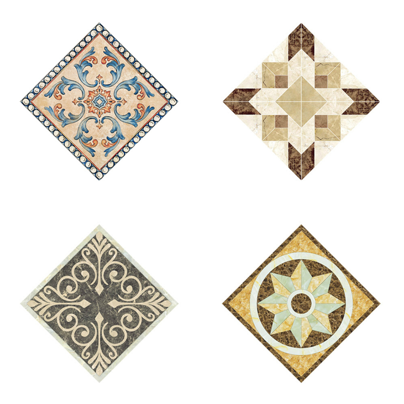 10pcs 8x8/12x12cm Diagonal Tile Seam Stickers Decorative Self Adhesive Floor Wall Tiles Square Mosic Sticker Home Decoration