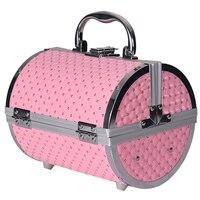 2019 Pillow Design Aluminium Alloy Make Up Box Makeup Case Beauty Case Cosmetic Bag Box Multi Tiers Lockable Jewelry Box
